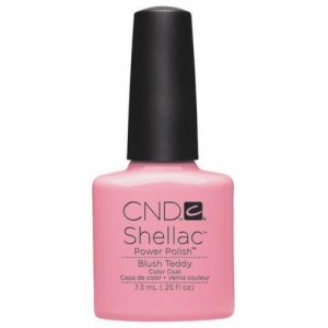 cnd shellac blush teddy