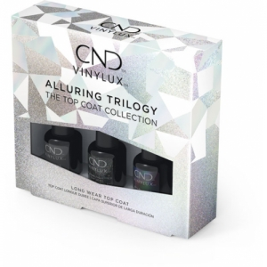 CND VINYLUX Alluring Trilogy Mini Top Coat kolekcia 3x3,7 ml